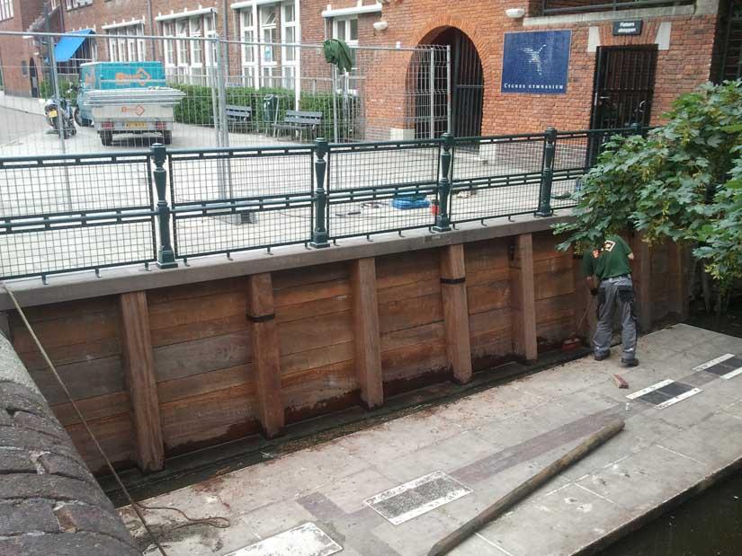 Keerwand-kademuur-walmuur-Linnaeushof-Amsterdam-waterbouw-Braams